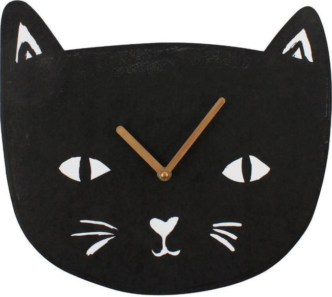 Gothic Gifts Black Cat Clock Buy Online Australia Beserk
