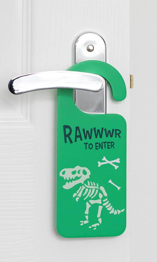 Glow In The Dark Dinosaur [Green] | DOOR HANGER
