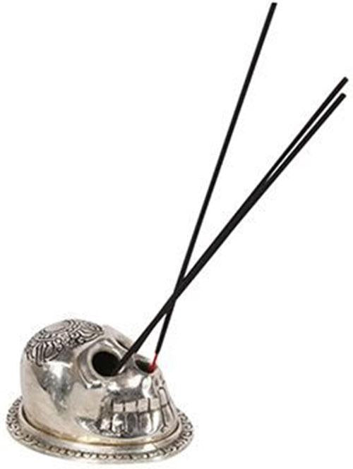 Silver Skull Metal | INCENSE HOLDER