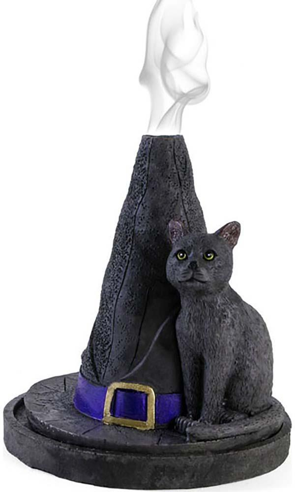 Witch Hat With Cat | INCENSE CONE HOLDER