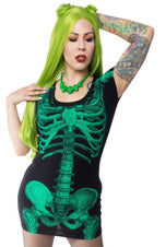 Skeleton Tunic [Green Glow] | DRESS
