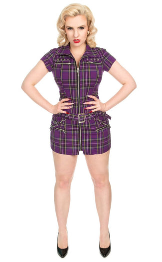 Purple Tartan Emo Punk | DRESS