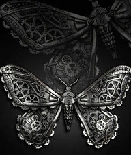 Mechanical Moth (Silver) Hair Clip