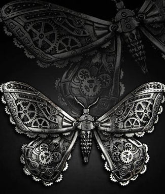 Mechanical Moth [Silver] | HAIR CLIP