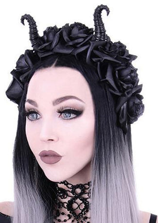 Maleficent & Roses | HEADBAND