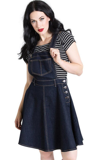 Dakota Pinafore [Navy] | DRESS
