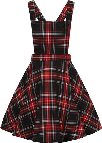 Islay [Black/Red] Pinafore | DRESS
