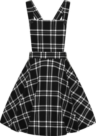 Islay Pinafore [Black/White] | DRESS