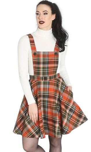 Oktober Pinafore [Orange] | DRESS