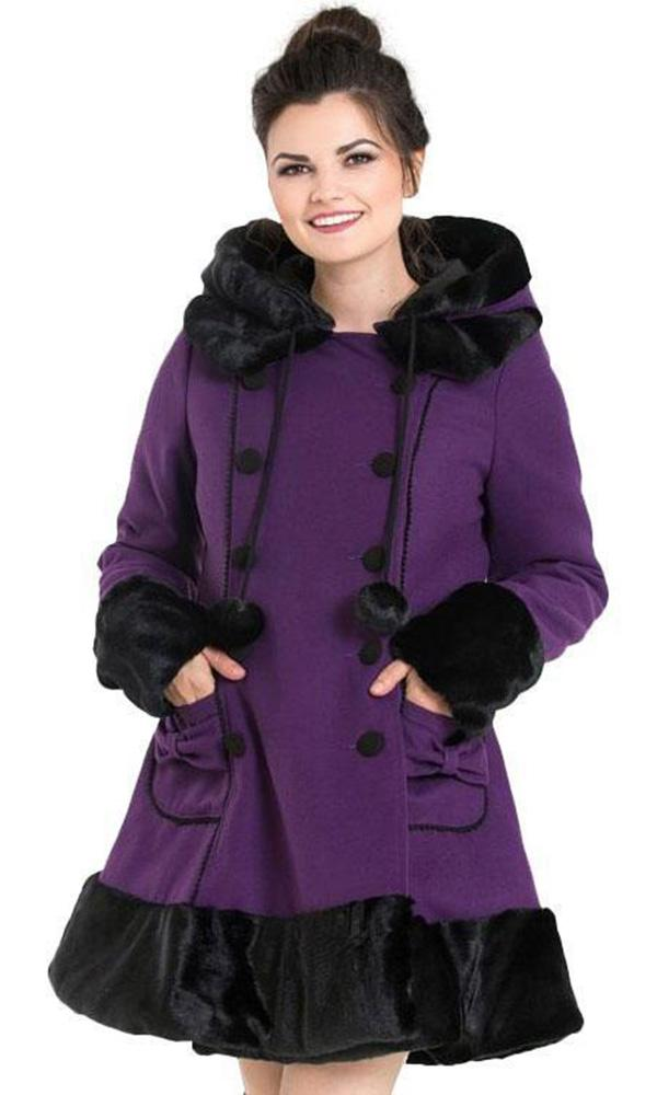 Sarah Jane [Purple/Black] | COAT