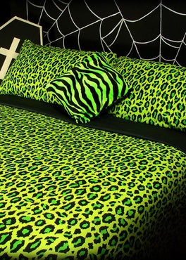 Acid Leopard | KING QUILT SET