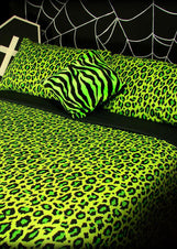 Acid Leopard Queen Quilt Set