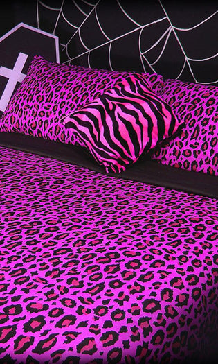 Candy Leopard | KING QUILT SET*