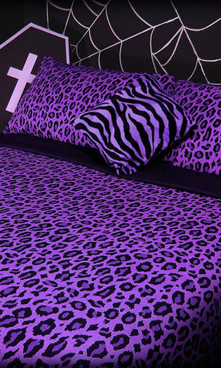 Purple Rain Leopard | KING QUILT SET