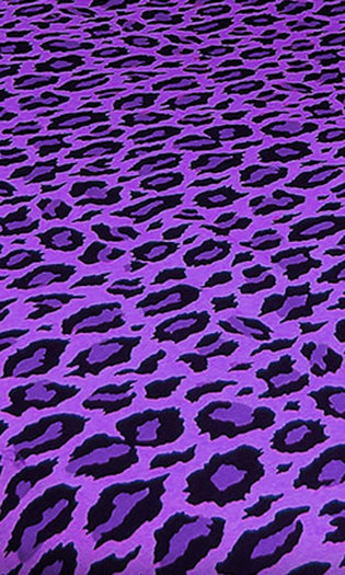 Purple Rain Leopard | QUEEN QUILT SET