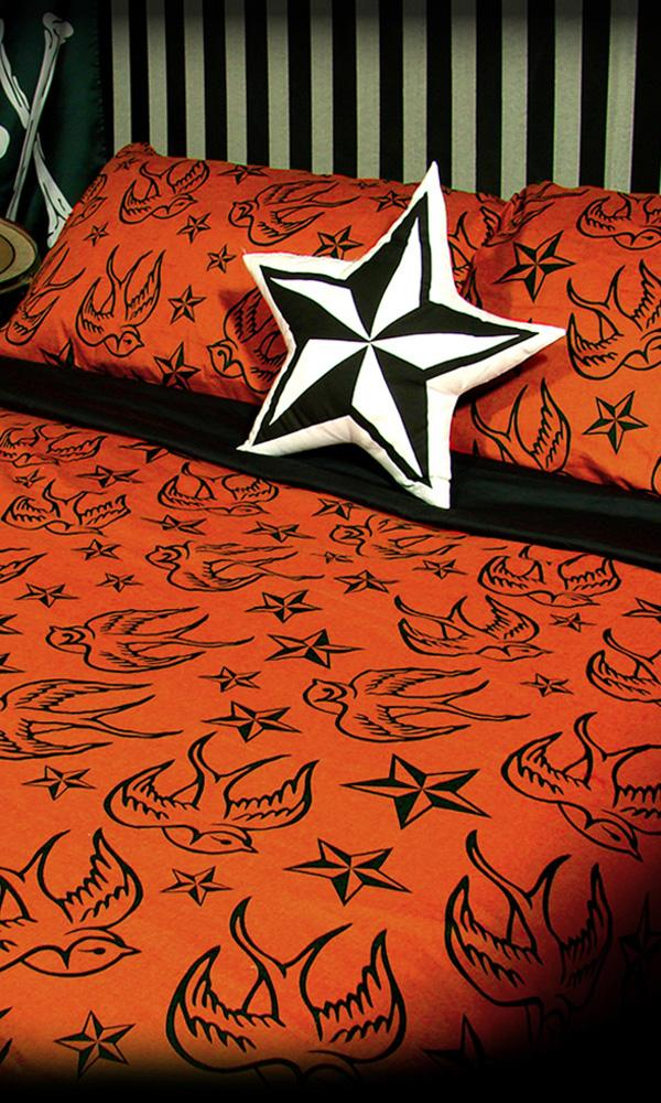 Stars & Swallows [Burnt Orange] | KING QUILT SET*