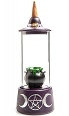 Cauldron Glass Case [LED Backflow] | INCENSE BURNER