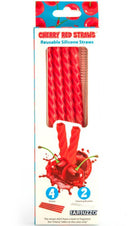 Cherry Red Reusable | SILICONE STRAWS