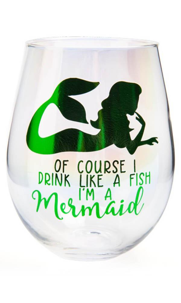Drink Like A Mermaid [Aurora] | STEMLESS WINE GLASS