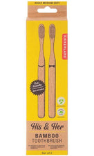Kikkerland Bamboo | TOOTHBRUSH SET