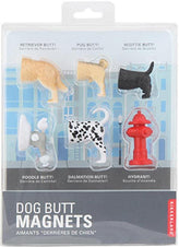 Kikkerland Dog Butt | MAGNETS [Set of 6]