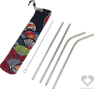Reusable Metal Straws | 4 PACK