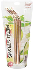 Reusable Metallics Metal Straws