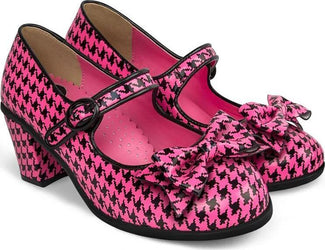 Pop Houndstooth Pink | HEELS