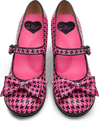 Banned By Dancing Days Billy Jane Cute Bow Polka Star Shoes 50s Rockabilly Heels