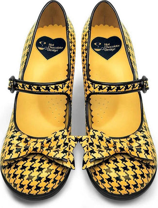 Pop Houndstooth Yellow | HEELS