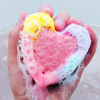 Ink Blot Good Vibes Heart | BATH BOMB