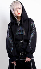 Animason [Black Rainbow] | CROPPED HOODIE [RS]