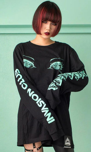 Eyes [Black] | LONG TEE