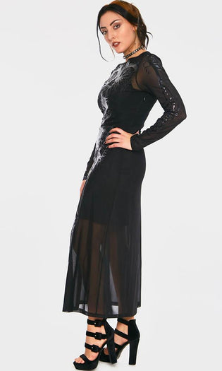 Black Hearted Veins | MAXI DRESS*