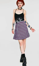 Contrast Check Buckled | MINI SKIRT