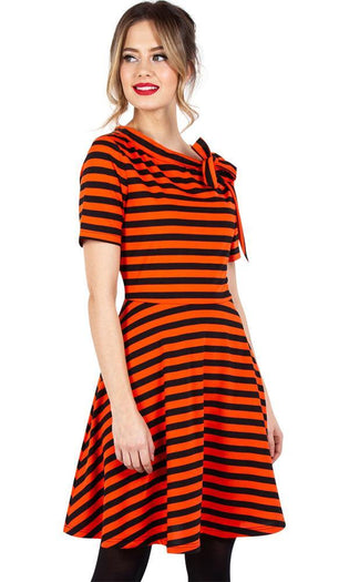 Marnie Striped | Flare DRESS