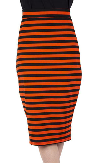 Marnie Striped Pencil | SKIRT