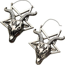 Baphomet Goat Head Plug | HOOP EARRINGS