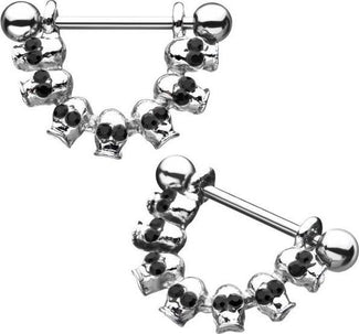 Black Eye Skull | NIPPLE BARS