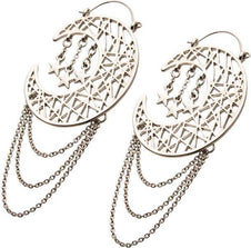 Cut Out Moon & Stars Plug | HOOP EARRINGS^