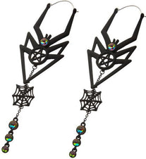 Dangle Spider Web Plug | HOOP EARRINGS*
