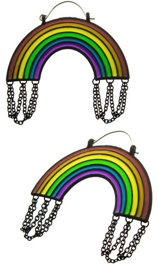Enamel Rainbow Plug | HOOP EARRINGS