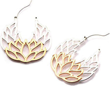 Lotus | Plug HOOP EARRINGS