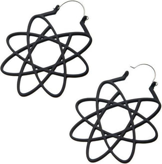 Matte Black Geometry Plug | HOOP EARRINGS