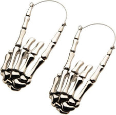 Skeleton Hand Plug | HOOP EARRINGS^