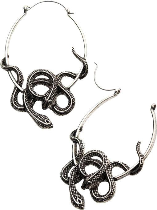 Twin Cobra | PLUG HOOP EARRINGS