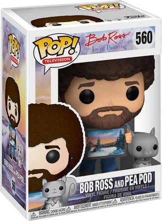 Joy Of Painting | Bob Ross And Pea Pod POP! VINYL [RS]