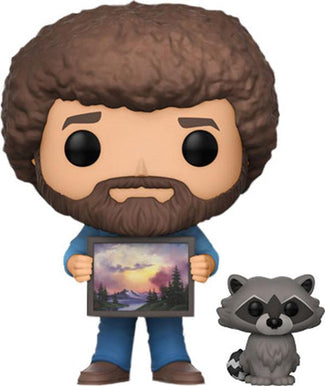 Joy Of Painting | Bob Ross And Raccoon POP! VINYL