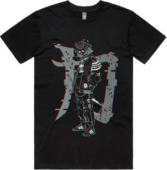 Samurai Glitch [Black] | TEE*