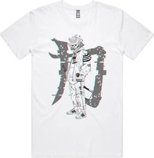 Samurai Glitch [White] | TEE*